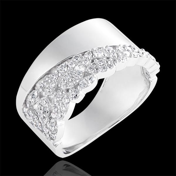 Bague Destinée - Constance - or blanc 18 carats et diamants