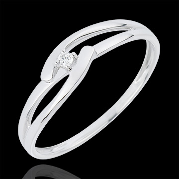 mariage Solitaire Nid Précieux - Union Blanche - or blanc - 18 carats