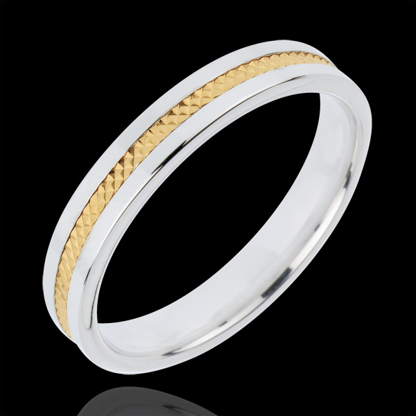 Alliance Juliette - or blanc et or jaune 18 carats