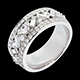 Bague Imp�ratrice or blanc diamants - 0.9 carats