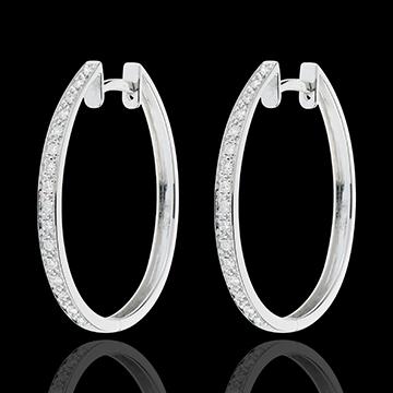 boucles d 39 oreilles cr oles or blanc anneaux de v nus. Black Bedroom Furniture Sets. Home Design Ideas