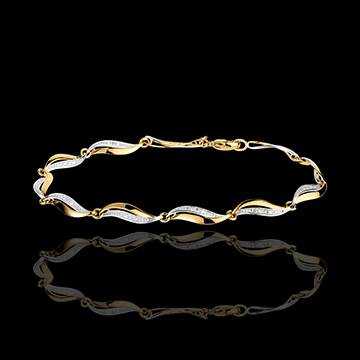 bijou Bracelet Torsade or jaune - 22 diamants