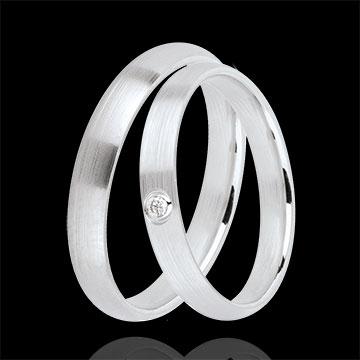 duo d 39 alliances cascade 1 diamant bijoux edenly. Black Bedroom Furniture Sets. Home Design Ideas