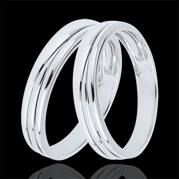 duo d 39 alliances triya or blanc bijoux edenly. Black Bedroom Furniture Sets. Home Design Ideas