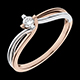 Bague Couronne sucr�e or rose - diamant 0.11 carat