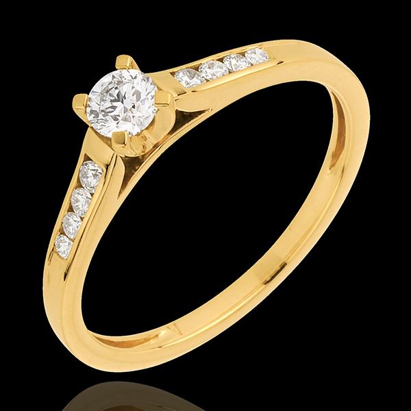 Solitaire or jaune 18 carats Altesse - diamant 0.20 carat - Edenly - Edenly - Modalova