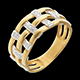 ventes Bague couture or jaune pav�e diamants - 11 diamants