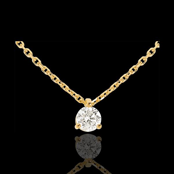 Collier solitaire or jaune 18 carats (TGM) - 0.305 carat - Edenly - Edenly - Modalova