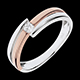 Bague Salom� or rose - diamant 0.10 carat