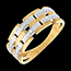 mariage   Bague canevas or jaune pav�e diamants  - 6 diamants