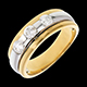 Trilogie �clipse or jaune-or blanc  - 0.59 carats - 3 diamants