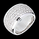 acheter on line Bague Diorama or blanc pav�e   - 2.05 carats - 79 diamants