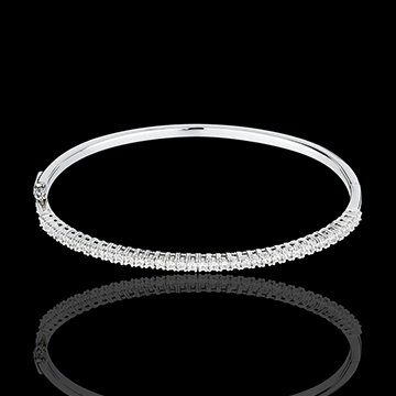 bracelet jonc or blanc semi pav 1 carats 37 diamants. Black Bedroom Furniture Sets. Home Design Ideas