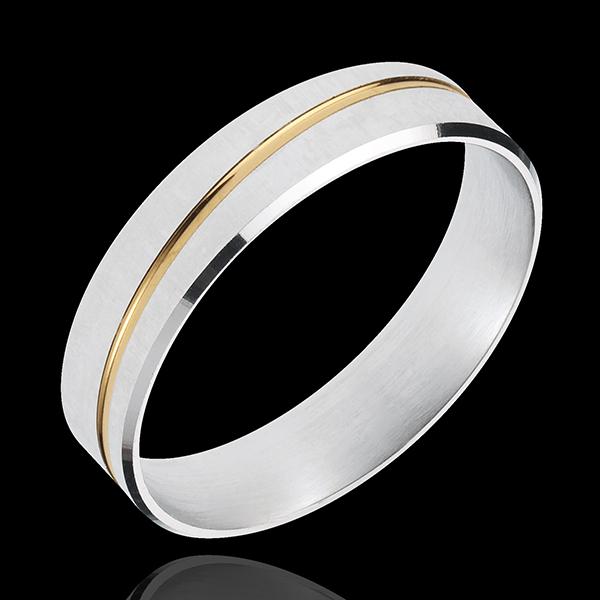 Alliance Félix - or blanc et or jaune 18 carats - Edenly - Edenly - Modalova