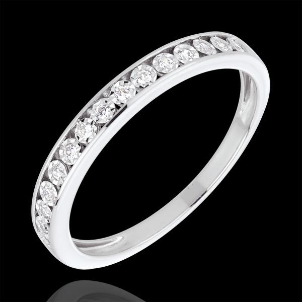 Alliance sertis magiques or blanc 18 carats et diamants - Edenly - Edenly - Modalova