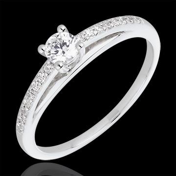 Bague de Fiançailles - Avalon - diamant 0.195 carat - or blanc et ...