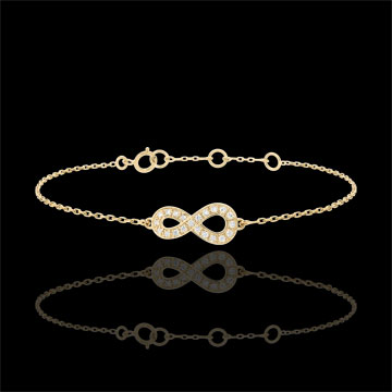 bracelet infini or jaune et diamants bijoux edenly. Black Bedroom Furniture Sets. Home Design Ideas