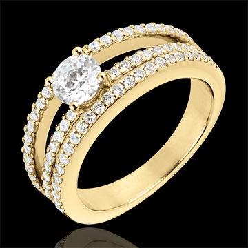 Bague de Fiançailles Destinée - Duchesse - or jaune - diamant ...