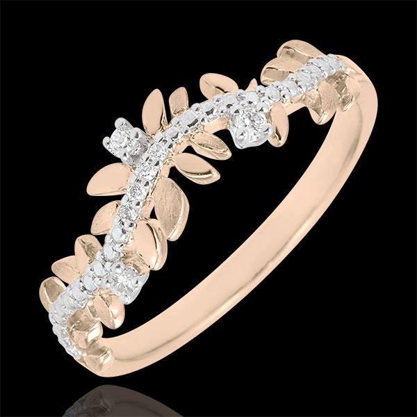 Bague Jardin Enchanté - Feuillage Royal - diamant et or rose 18 carats - Edenly - Edenly - Modalova