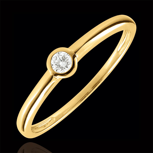 Bague Solitaire Mon diamant - or jaune 9 carats - diamant 0.08 carat - Edenly - Edenly - Modalova
