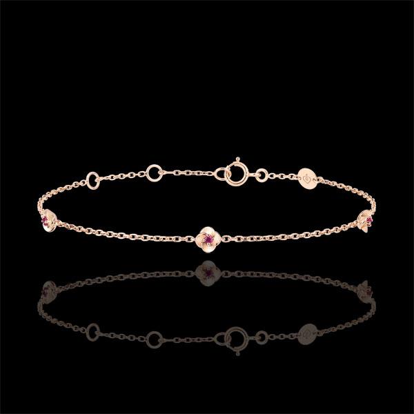 Bracelet Ãclosion - Couronne de Roses - rubis - or rose 9 carats - Edenly - Edenly - Modalova