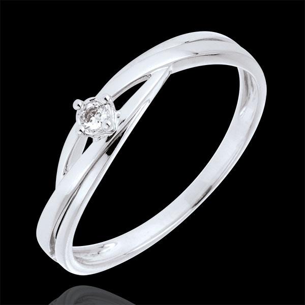 Solitaire Nid Précieux - Dova - or blanc 18 carats - diamant 0.03 carat - Edenly - Edenly - Modalova
