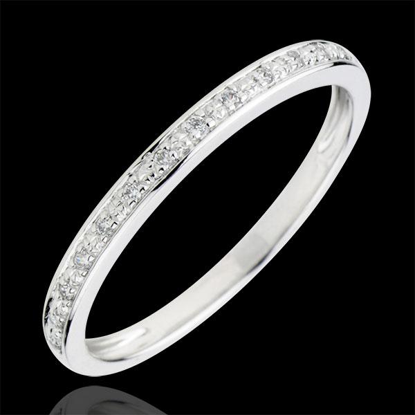 Alliance Eclats de diamant - or blanc 18 carats et diamant - demi-tour - Edenly - Edenly - Modalova