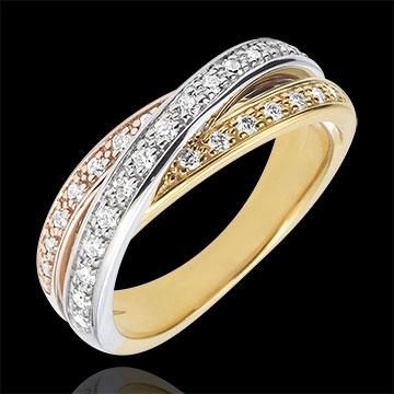 anneau saturne diamant 3 ors 29 diamants 18 carats bijoux edenly. Black Bedroom Furniture Sets. Home Design Ideas