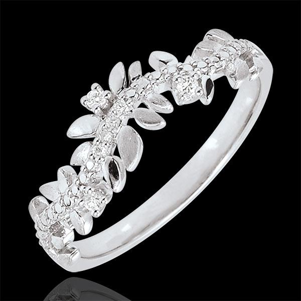 Bague Jardin Enchanté - Feuillage Royal - diamant et or blanc 18 carats - Edenly - Edenly - Modalova