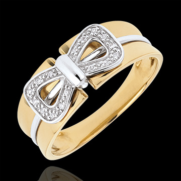 mariages Bague Noeud Corset or jaune