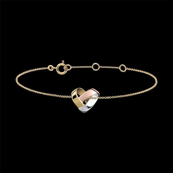 Bracelet Coeur Pliage 3 ors 18 carats