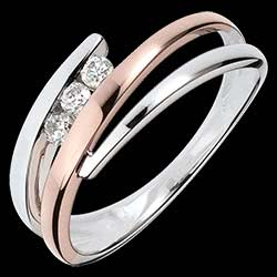 <a href=http://en.edenly.com/jewels/pink-and-white-gold-delphea-trilogy-ring,1097.html>Engagement Ring Precious Nest - Triple diamonds - pink gold. white gold - 3 diamonds - 18 carats <br><span  class='prixf'>� 399</span> (-46%) </a>