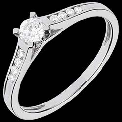<a href=http://en.edenly.com/jewels/white-gold-duchess-solitaire-031-cara,1100.html>White Gold Duchess Side Stone Rings - 0.31 carats - 9 Diamonds <br><span  class='prixf'>� 559</span> (-51%) </a>