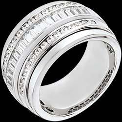 Bague F��rie - Voie Lact�e - 1.58 carats - 48 diamants