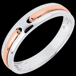 Wedding Ring Promise - all gold - white gold, rose gold - 18 carat