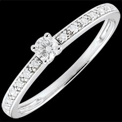Bague de Fiançailles Or Blanc Solitaire diamant Boréale - 0.09 carat ...