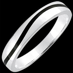 <a href=http://en.edenly.com/jewels/black-wave-wedding-ring-white-gold-9k,1379.html>Wedding Ring Men Clair Obscure - Curve - white gold and black lacquer - 9 carat <br><span  class='prixf'>� 179</span> (-44%) </a>