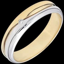 <a href=http://www.edenly.com/bijoux/alliance-king-diamant-bicolore,2828.html>Bague Amour - Alliance homme or blanc et or jaune - diamant 0.022 carat - 18 carats <br><span  class='prixf'>SOLDES:  380 &#x20AC;</span> (-74%) </a>