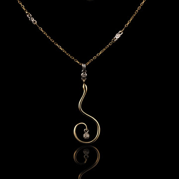 pendant snake necklace