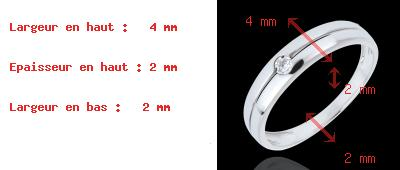 ventes on line Bague Edenit� or blanc et diamant - 0.022 carat